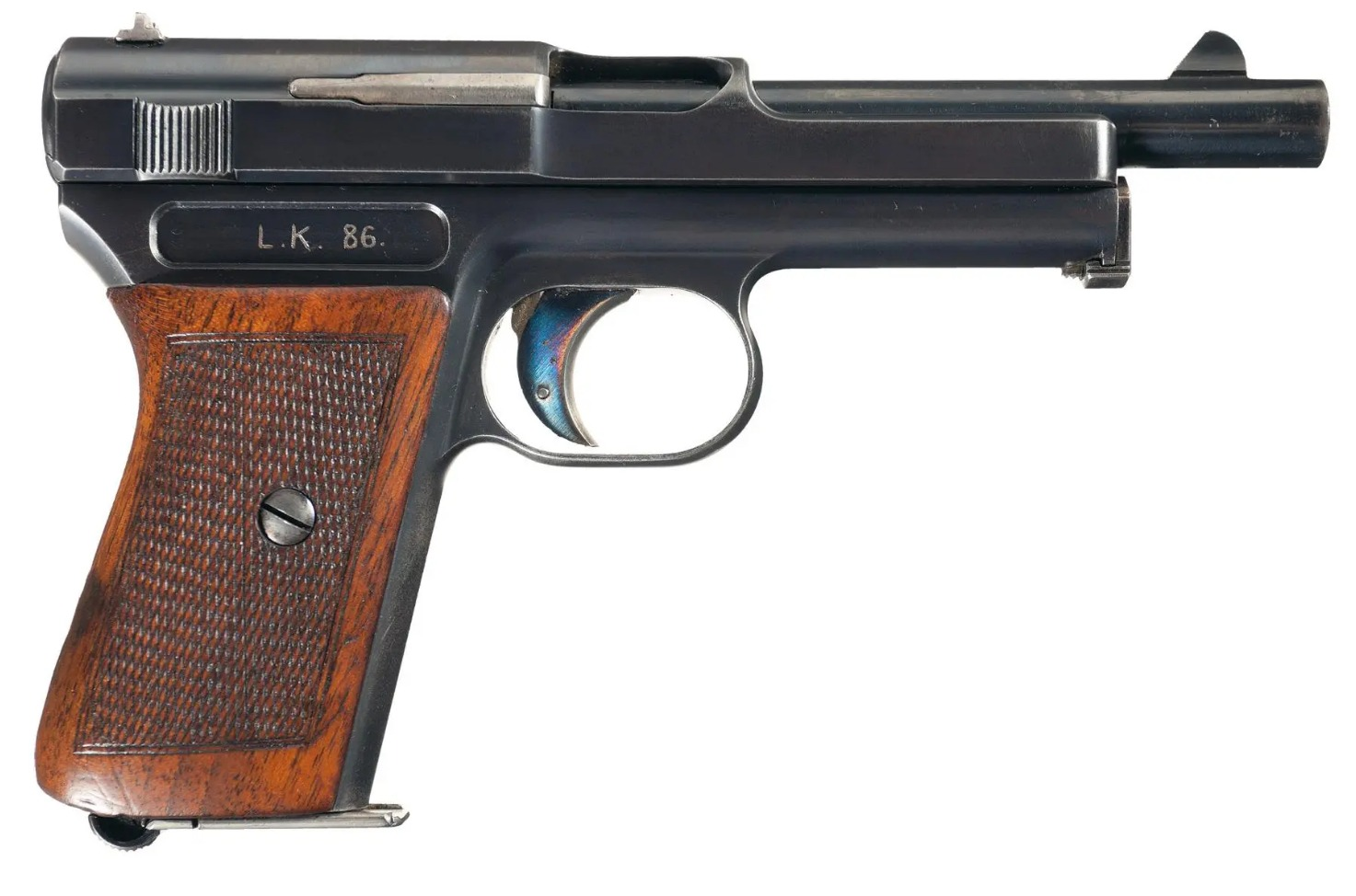 Mauser M1914 humpback long barrel automatic pistol