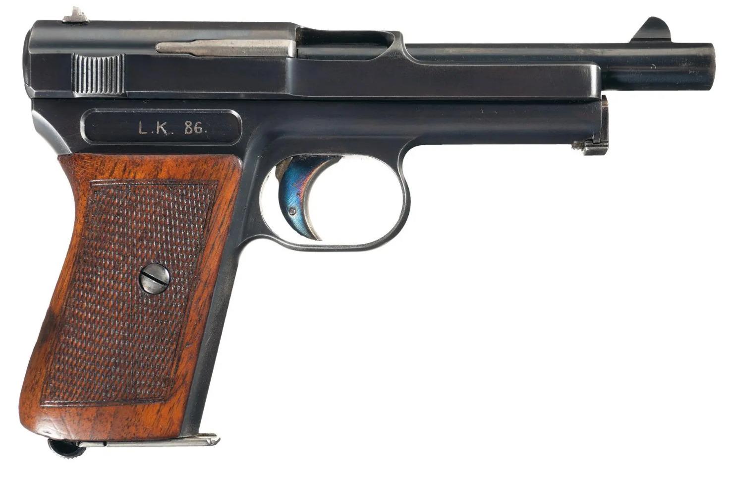 Mauser M1914 humpback long barrel automatic pistol