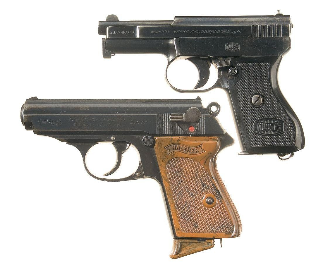 Mauser Model1910 automatic pistol Walther PPK