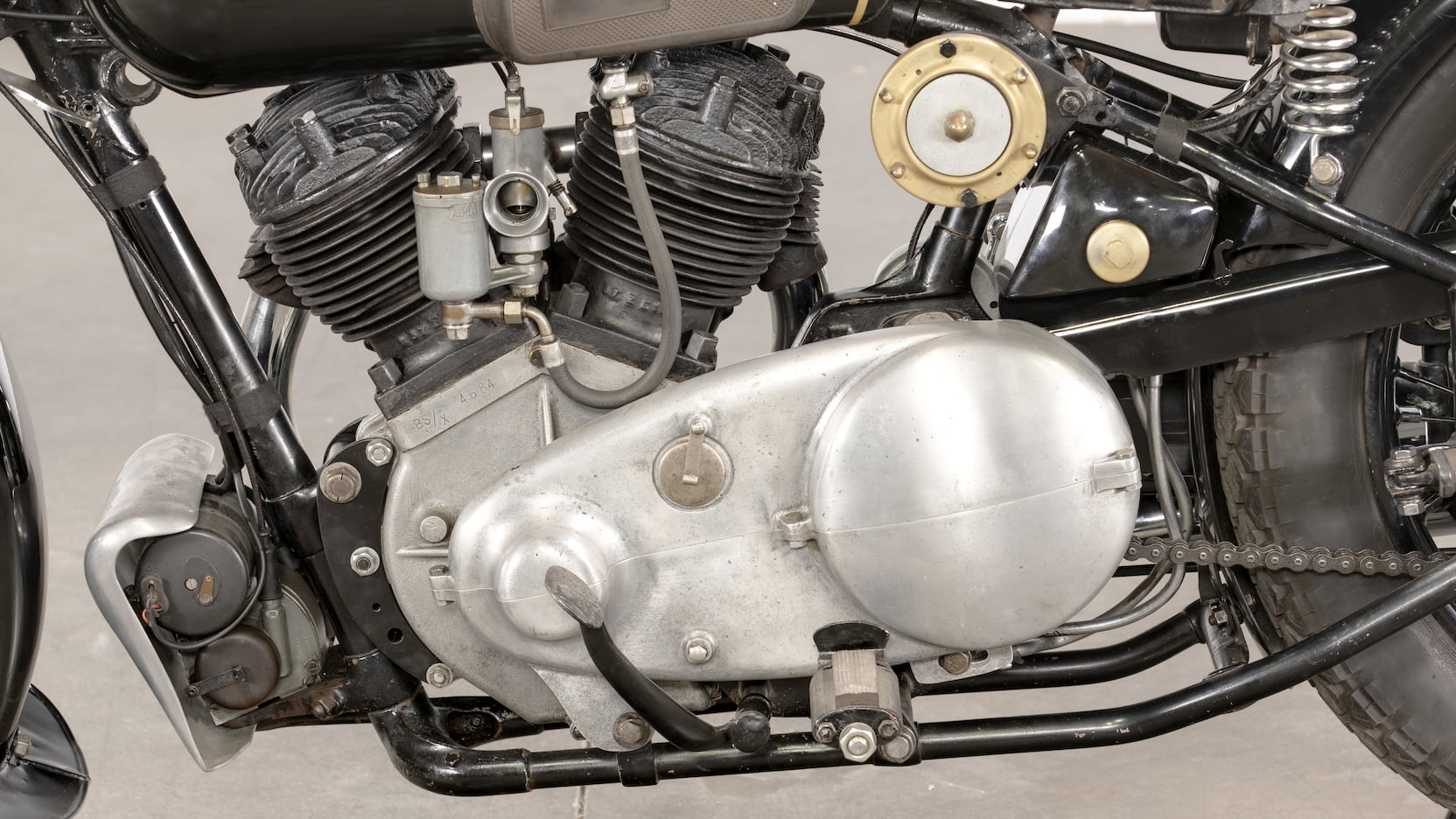 Brough SS80 Matchless engine
