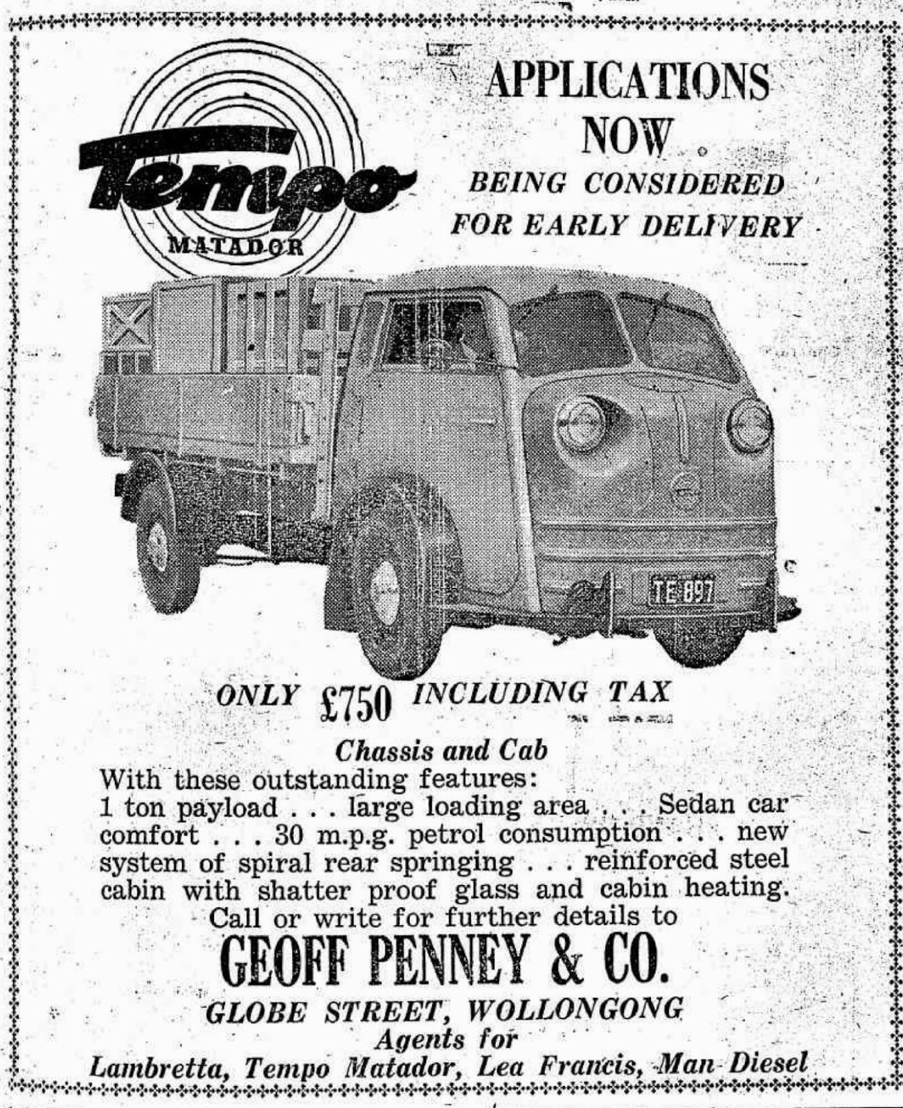 Tempo Matador advertisement