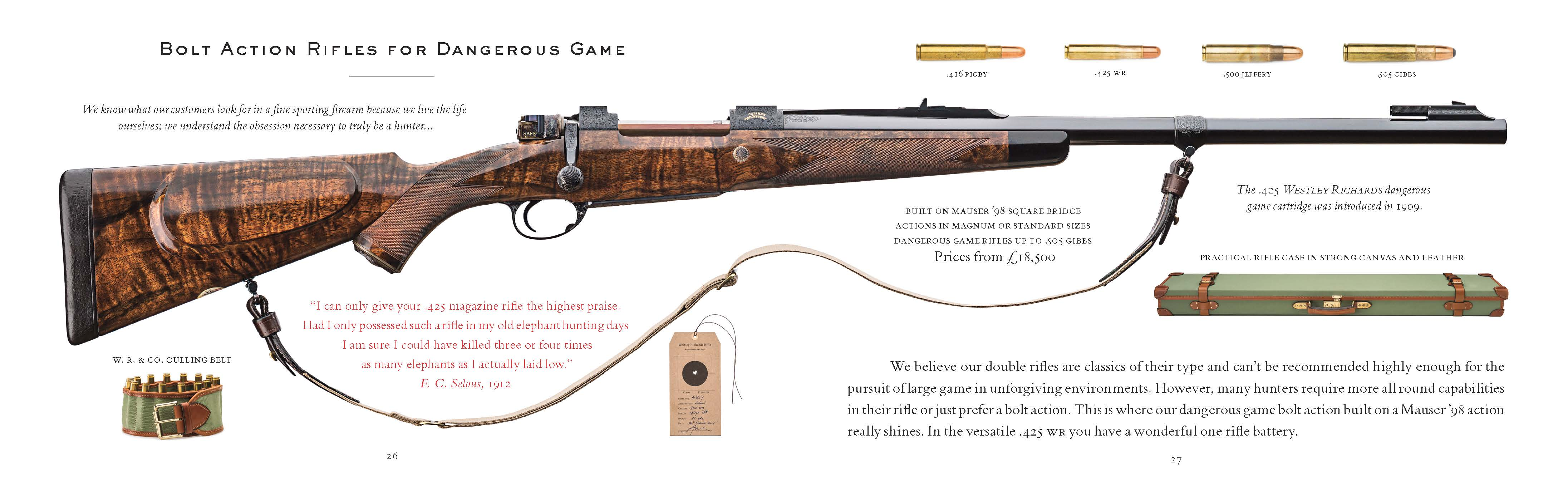 Westley Richards catalog page
