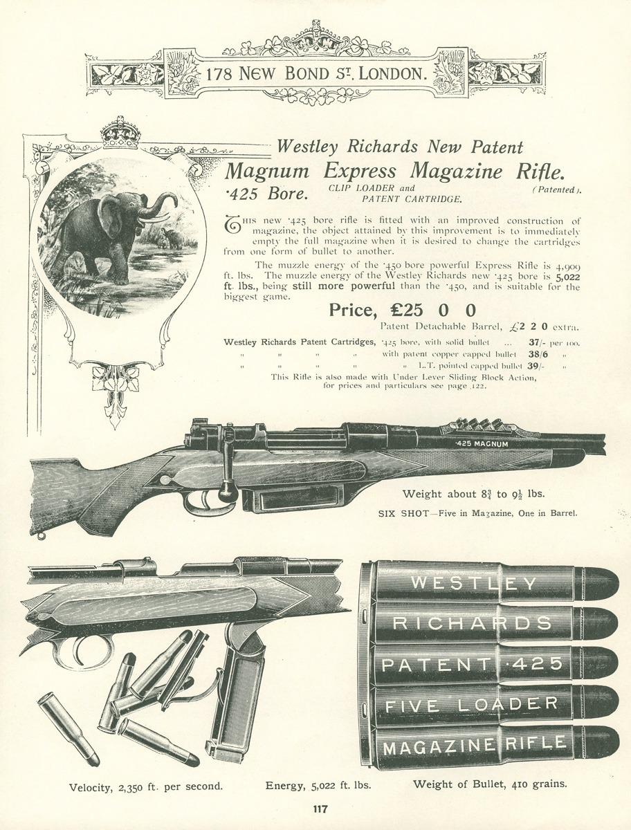 Westley Richards big game rifle advertisement