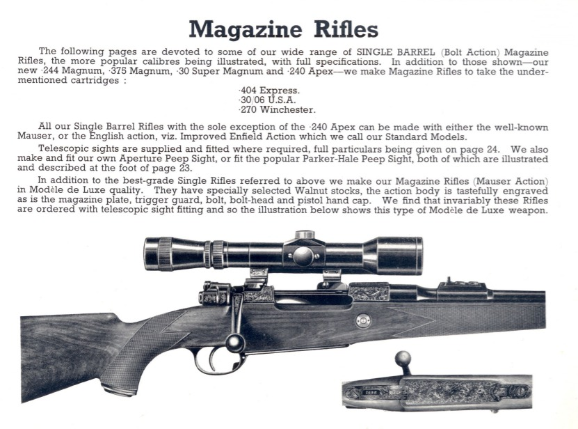 Holland & Holland Mauser M1898 sporting rifle