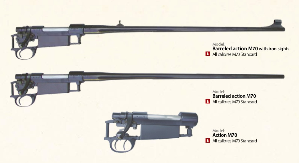 Zastava Arms M70 barreled actions sporting rifle
