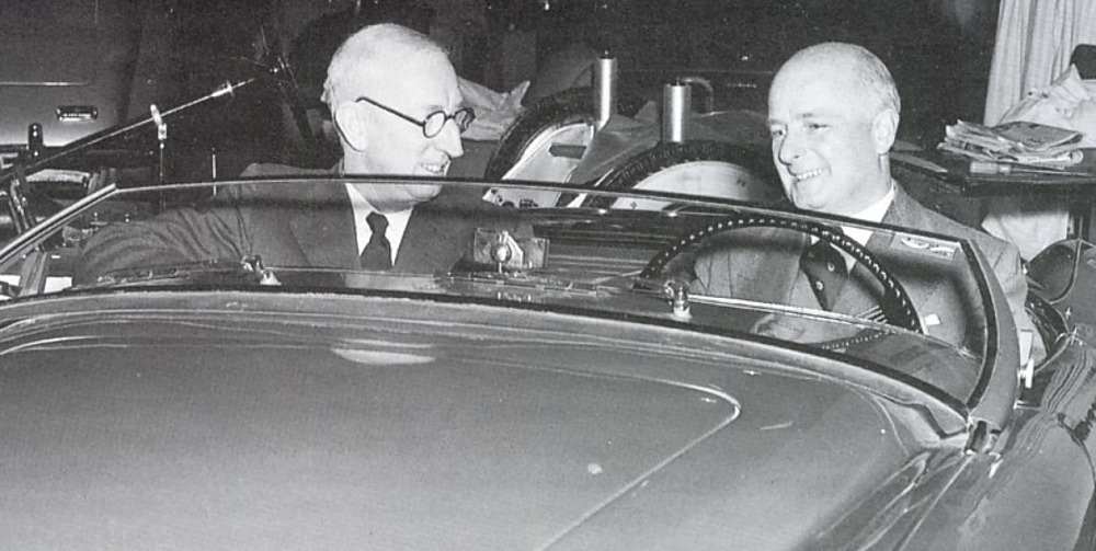 Leonard Lord Donald Healey London Earls Court Motor Show