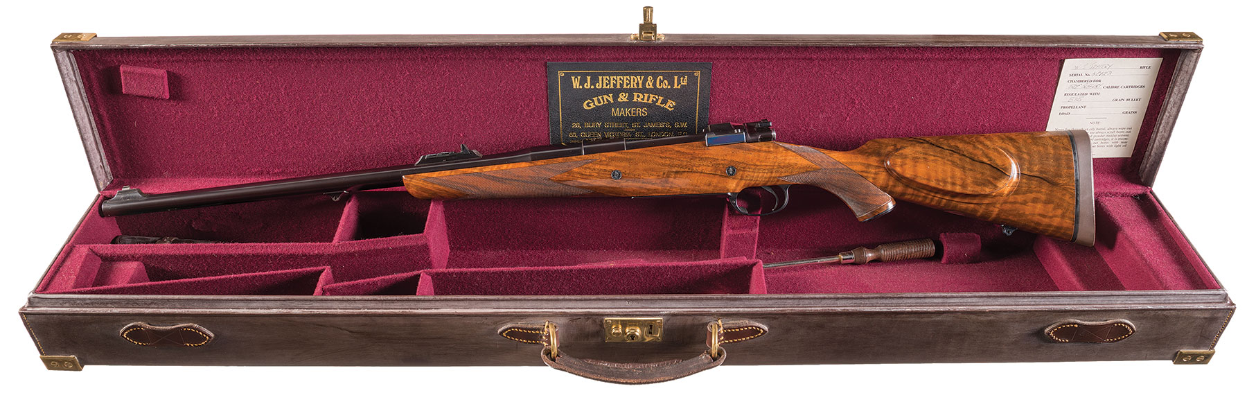 Jeffery bolt action magazine dangerous game rifle
