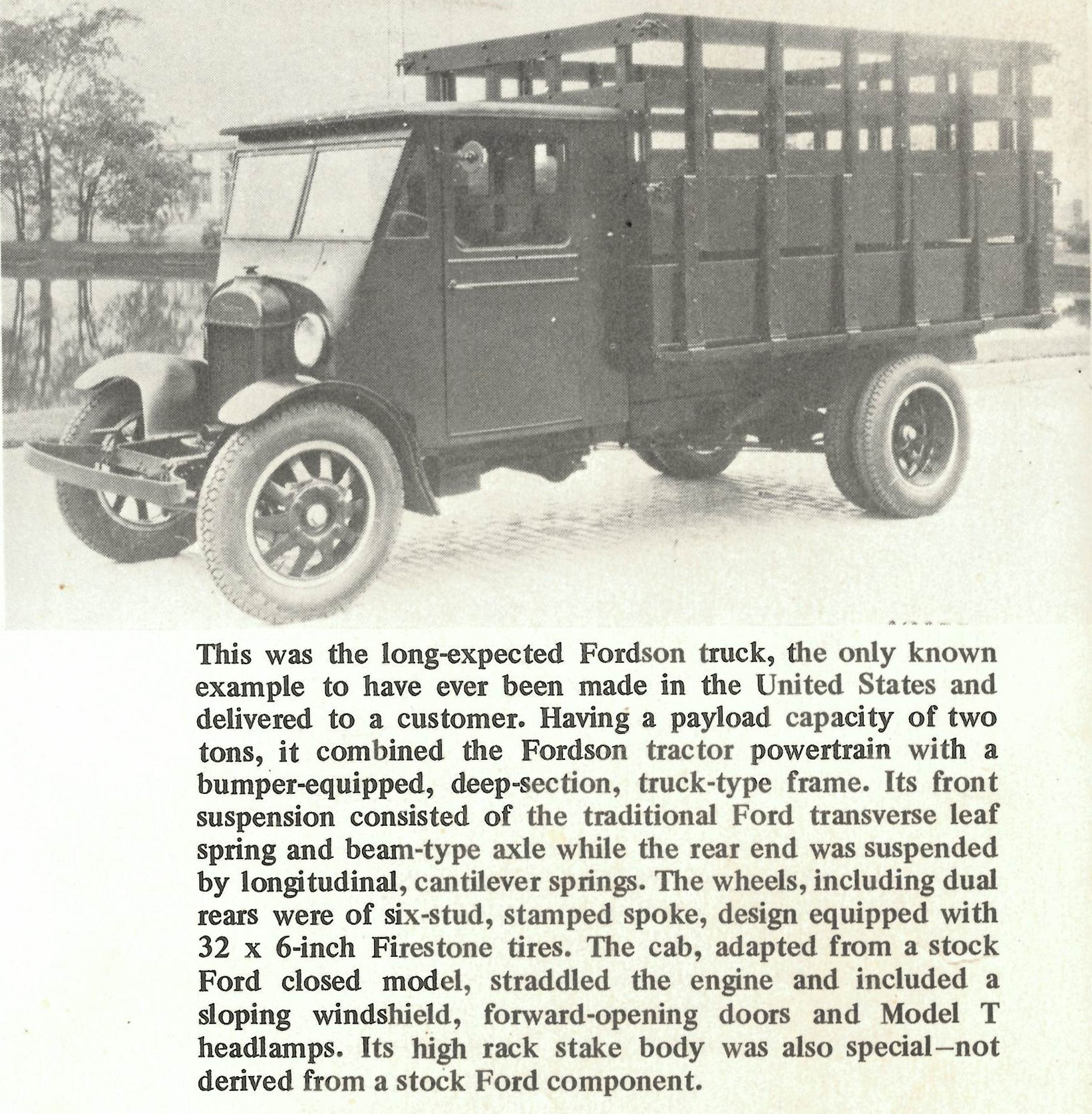 Fordson two ton heavy duty truck prototype
