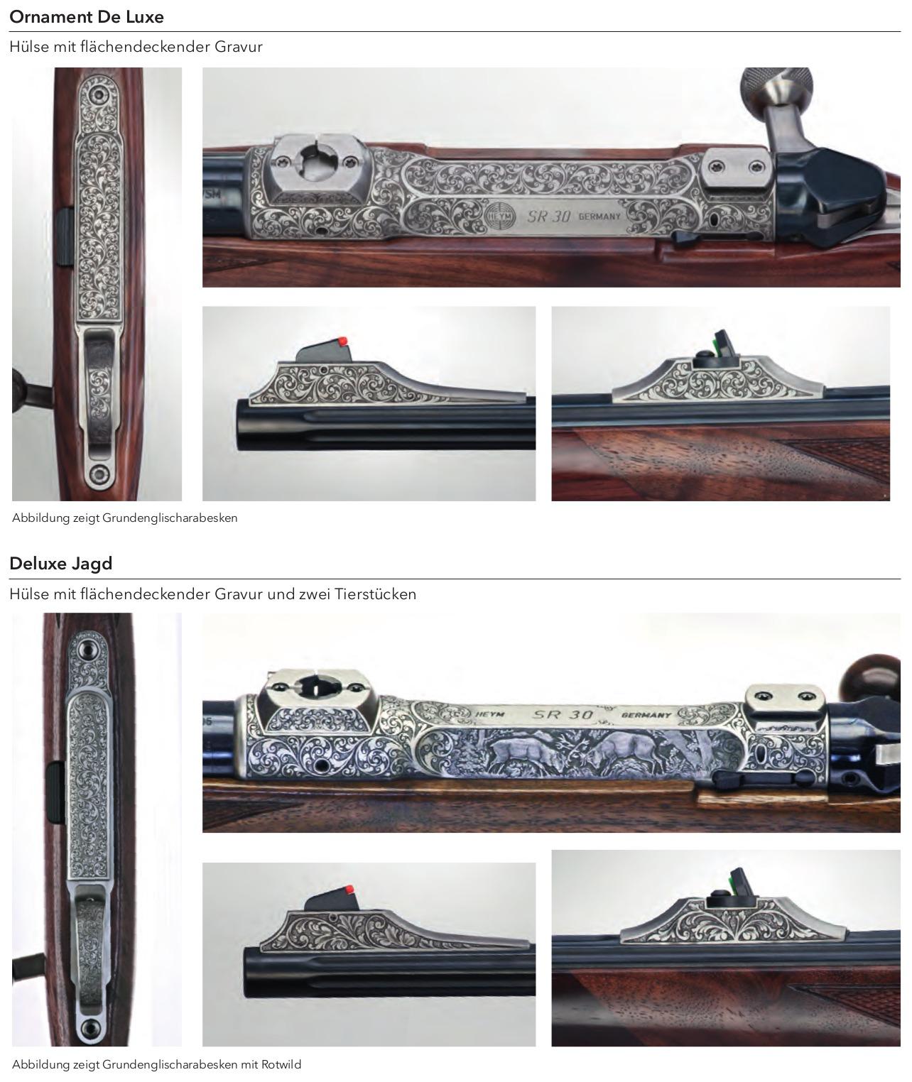 Heym SR21 sporting rifle engraving