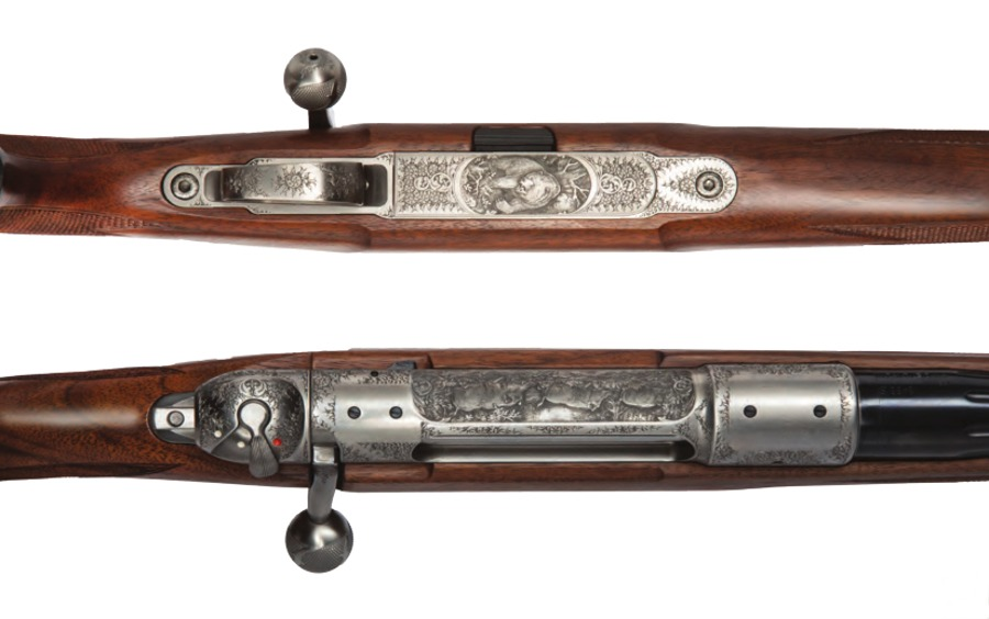 Heym SR21 sporting rifle engraving