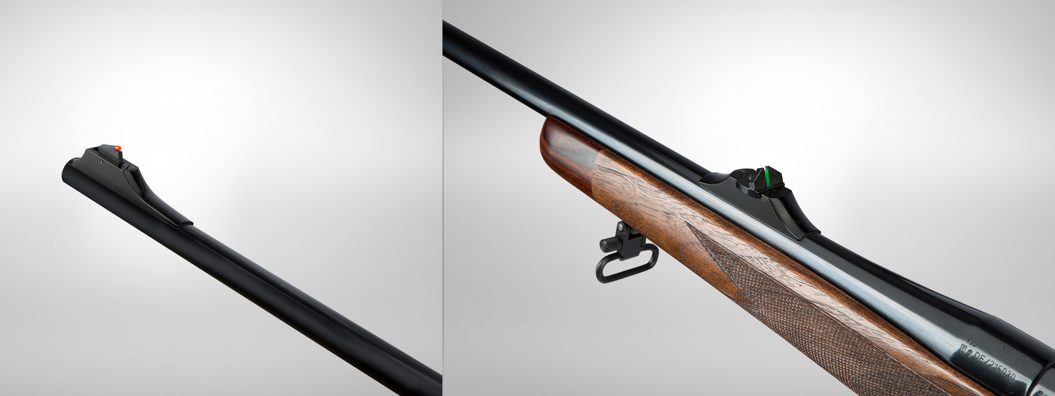 Heym SR21 sporting rifle optic fiber open sights