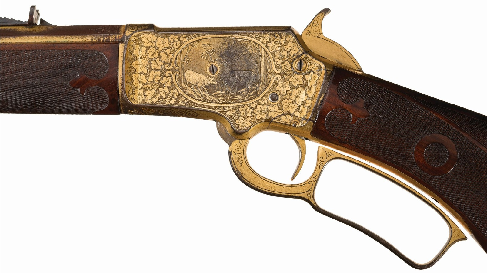 Annie Oakley gold Marlin M1897 lever action rifle