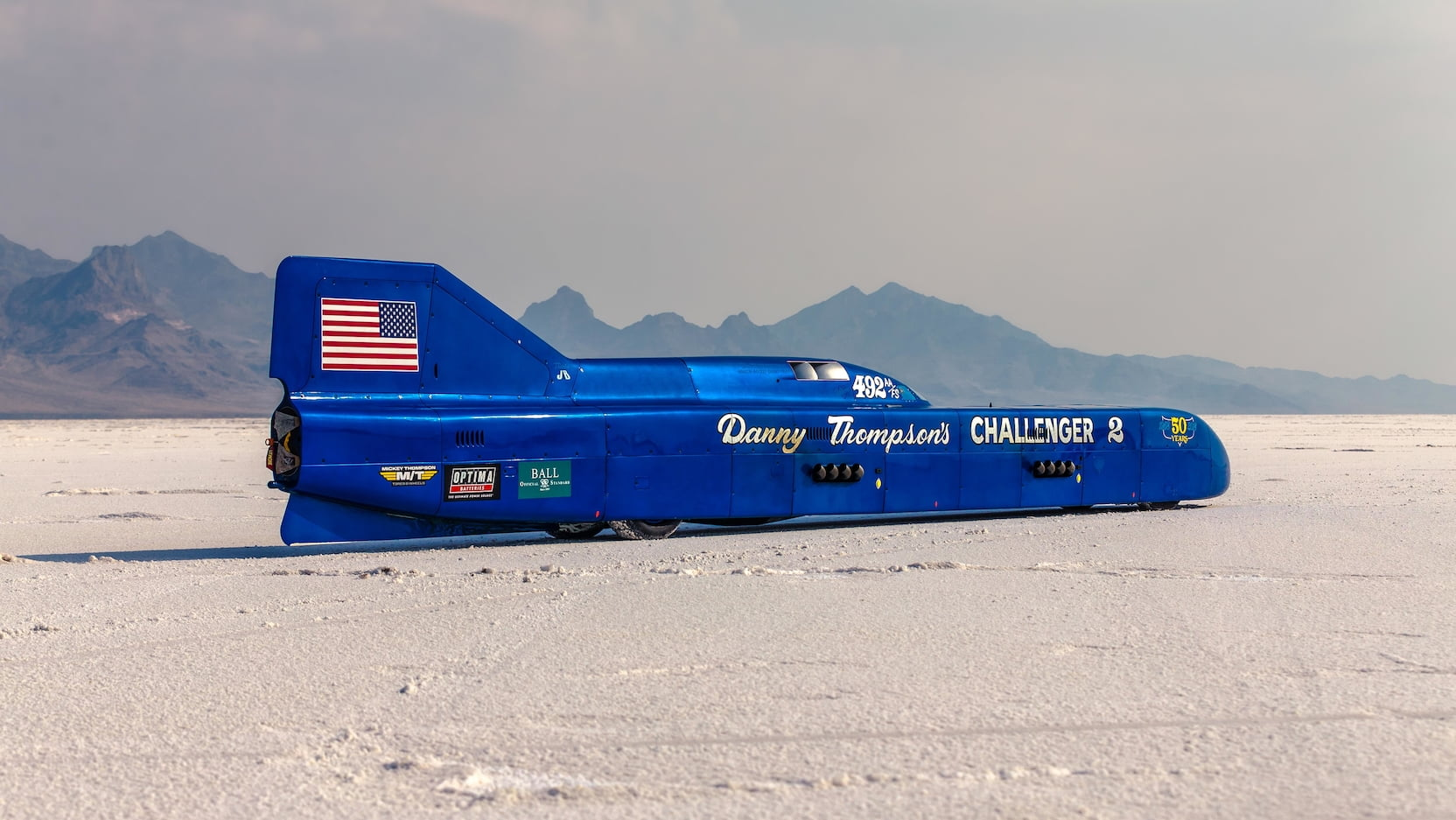 Challenger 2 speed record car