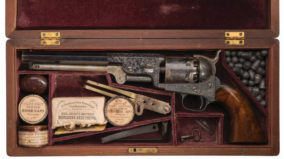 Image result for colt 1851 navy revolver engraved""
