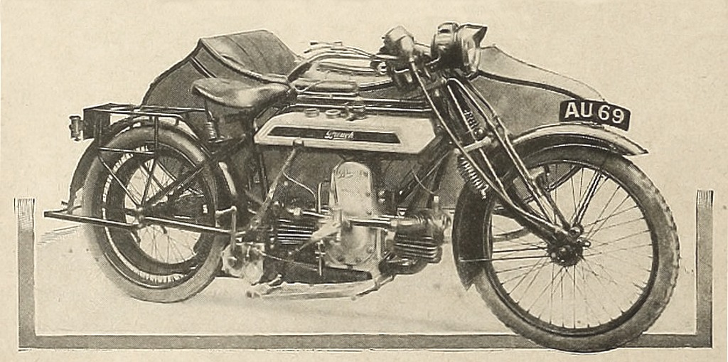 William Brough motorcycle sidecar combination