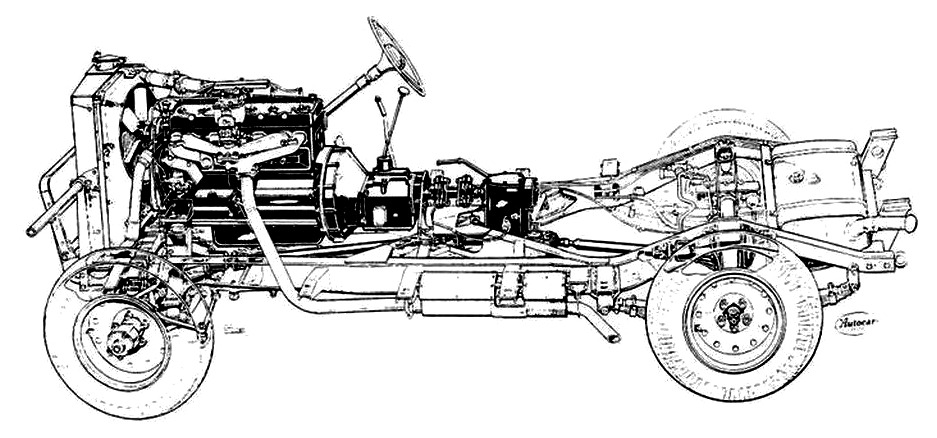 "Humber Heavy Utility ""Box"" rolling chassis drawing"