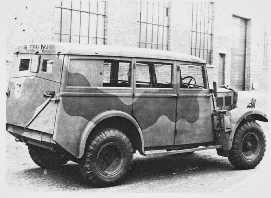 "Humber Heavy Utility ""Box"" rear view"