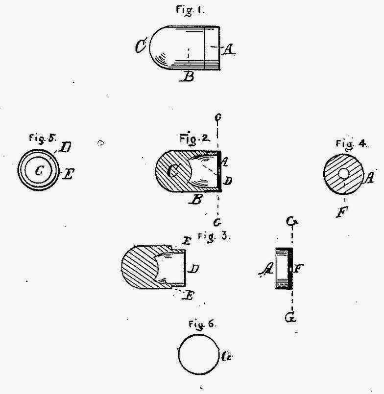 Rocket Ball cartridge Walter Hunt New York patent