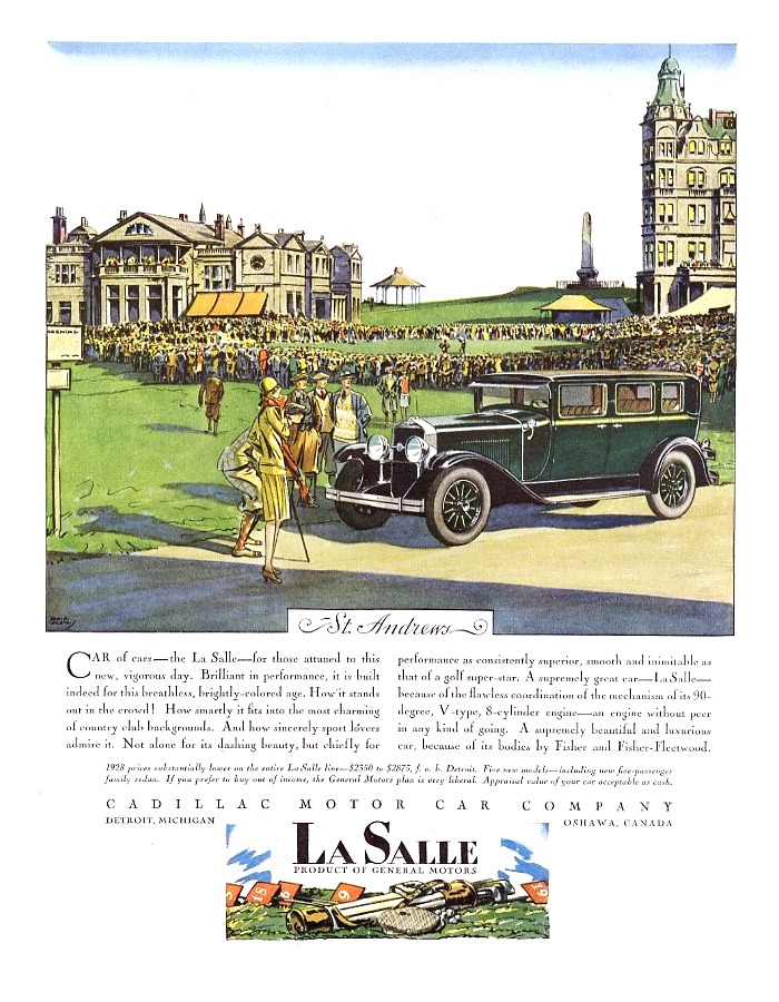 GM Cadillac LaSalle advertisement