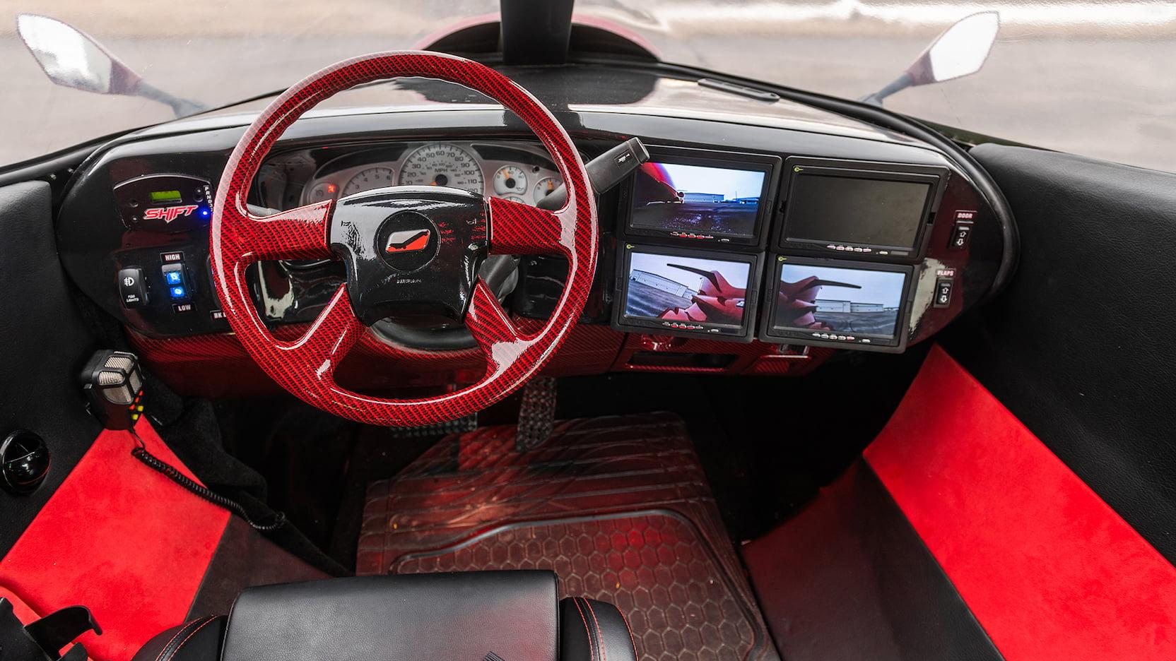 Limo-Jet Lear Jet Limousine driver's cockpit