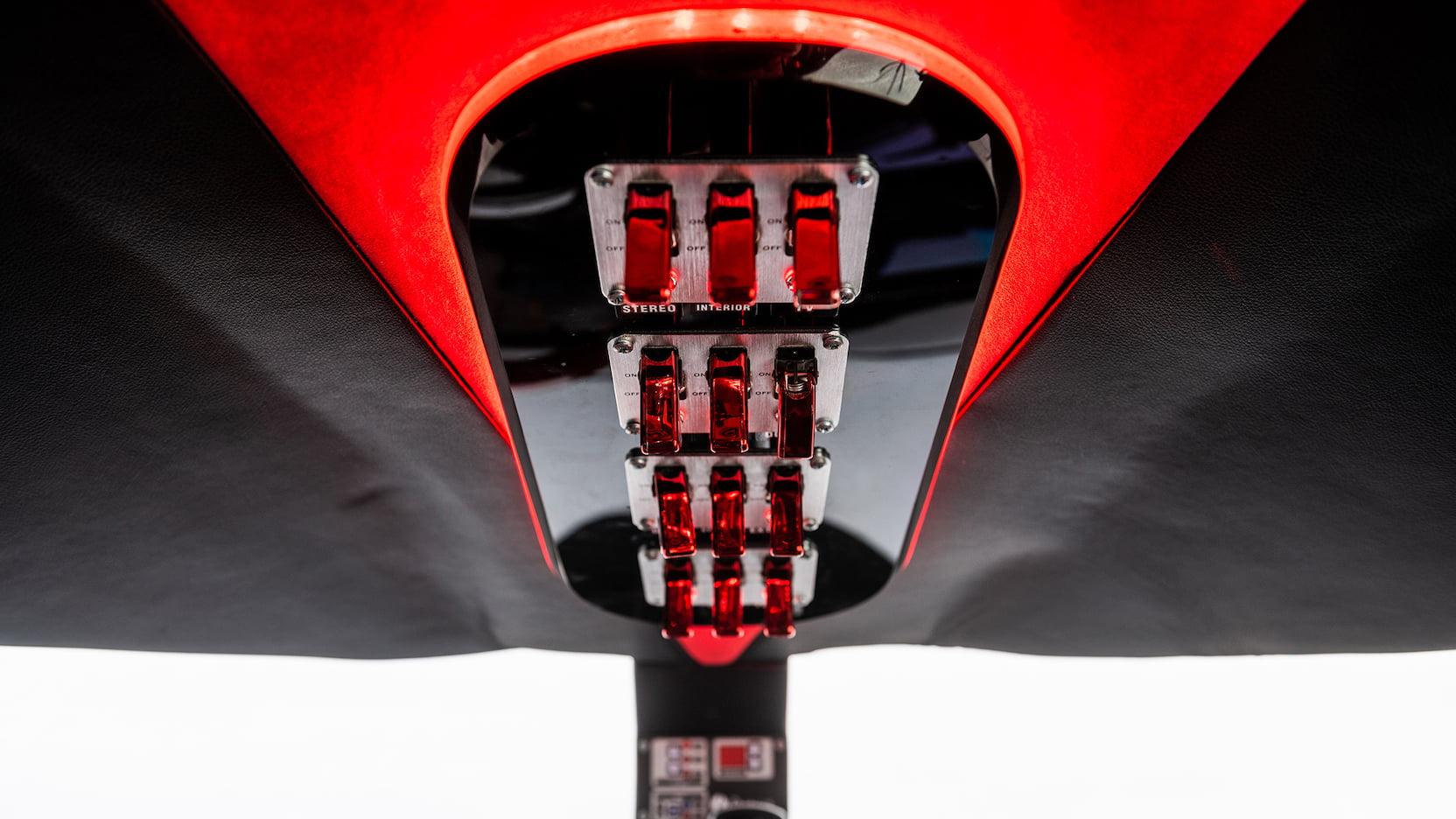 Limo-Jet Lear Jet Limousine driver's overhead control panel
