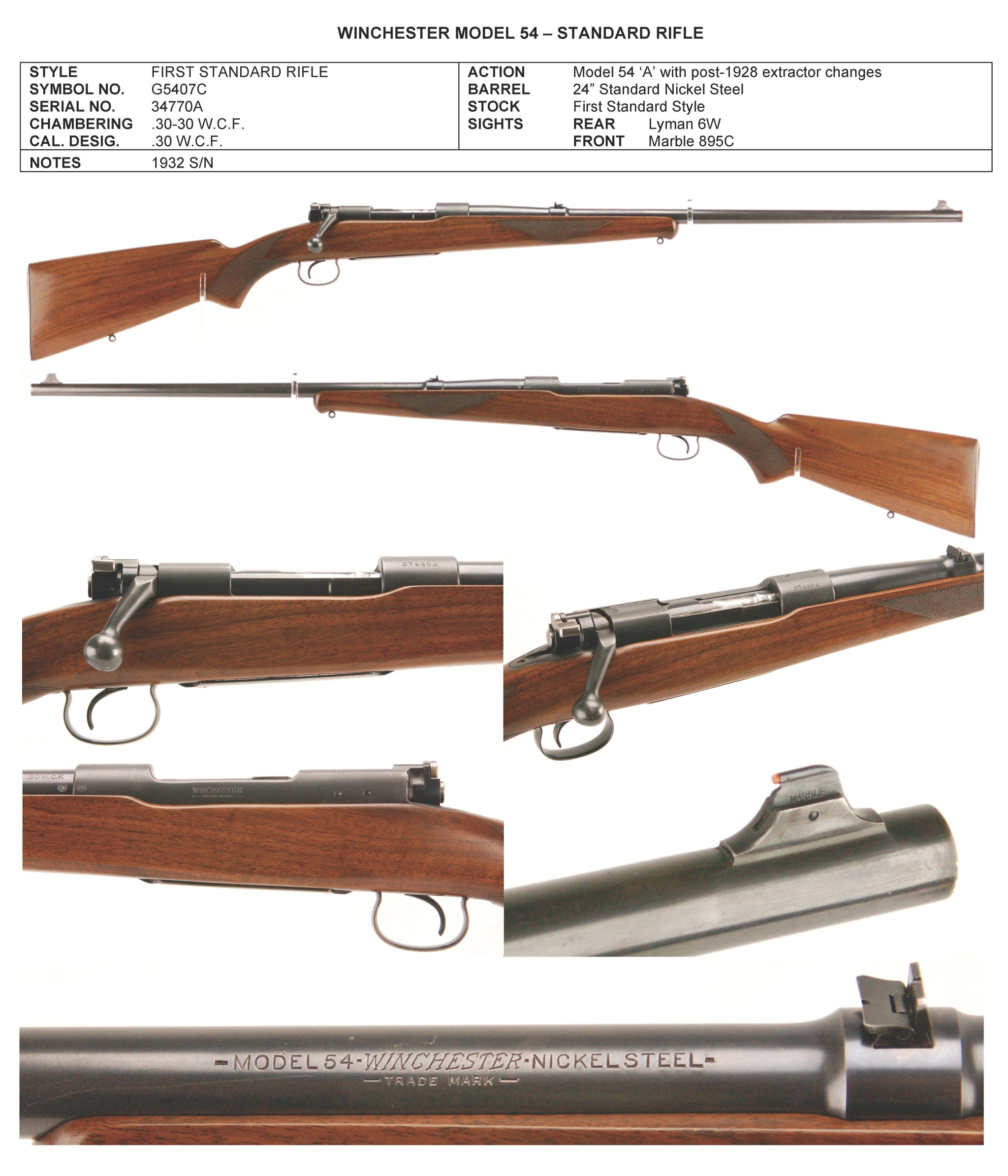 Winchester M54 sporting rifle