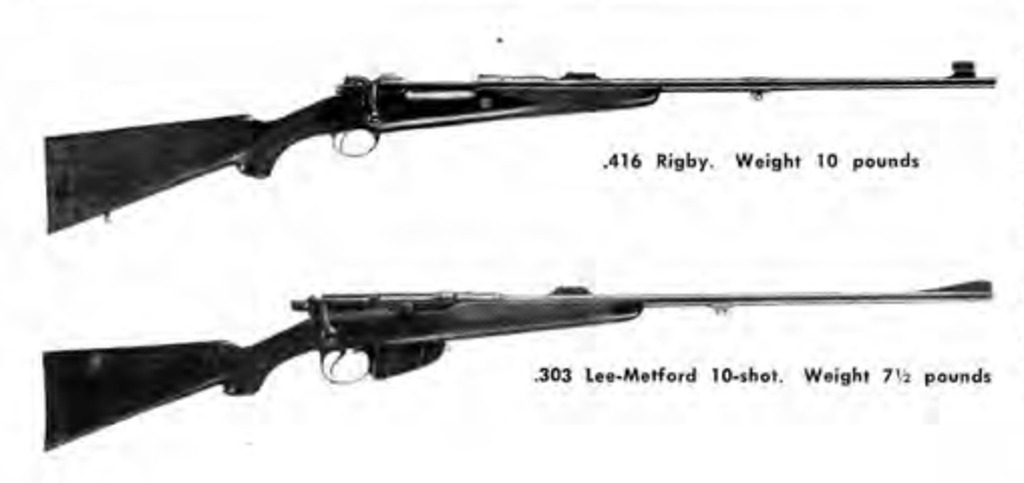 Rigby Lee Metford sporting rifles