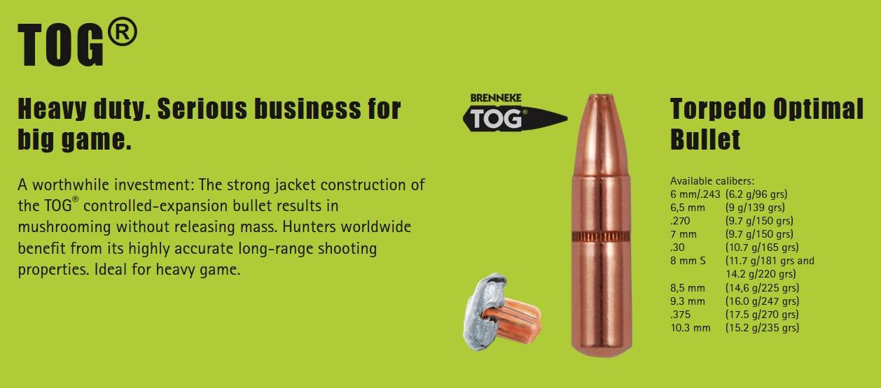 Brenneke Torpedo Optimal Bullet TOG